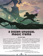 A Dozen Unusual Magic Items
