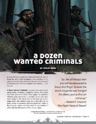 A Dozen Wanted Criminals