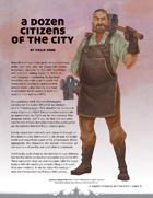 A Dozen Citizens of the City