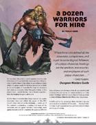 A Dozen Warriors for Hire