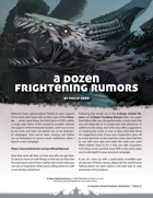 A Dozen Frightening Rumors