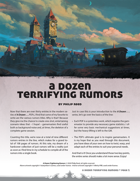 A Dozen Terrifying Rumors