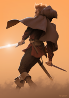 Swordsman - Full Page - Stock Art