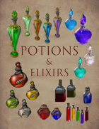 Potions and Elixirs: Potion Bottle Art Collection