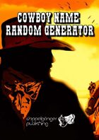 Cowboy Name Random Generator
