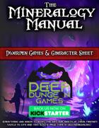 Dwarven Games & Character Sheet