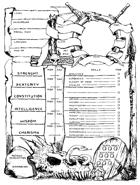 Barbarian Character Sheet