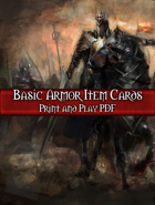 Basic Armor PnP Cards