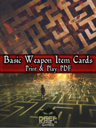 Basic Weapons PnP Cards