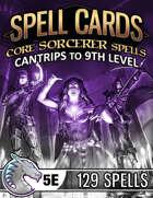 Spell Cards (5E) - Core Sorcerer Set
