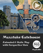 Maxstoke Gatehouse - Animated & Static Map with Perspective Views