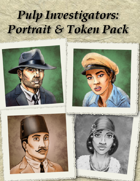 Pulp Investigators: Portrait and Token Pack