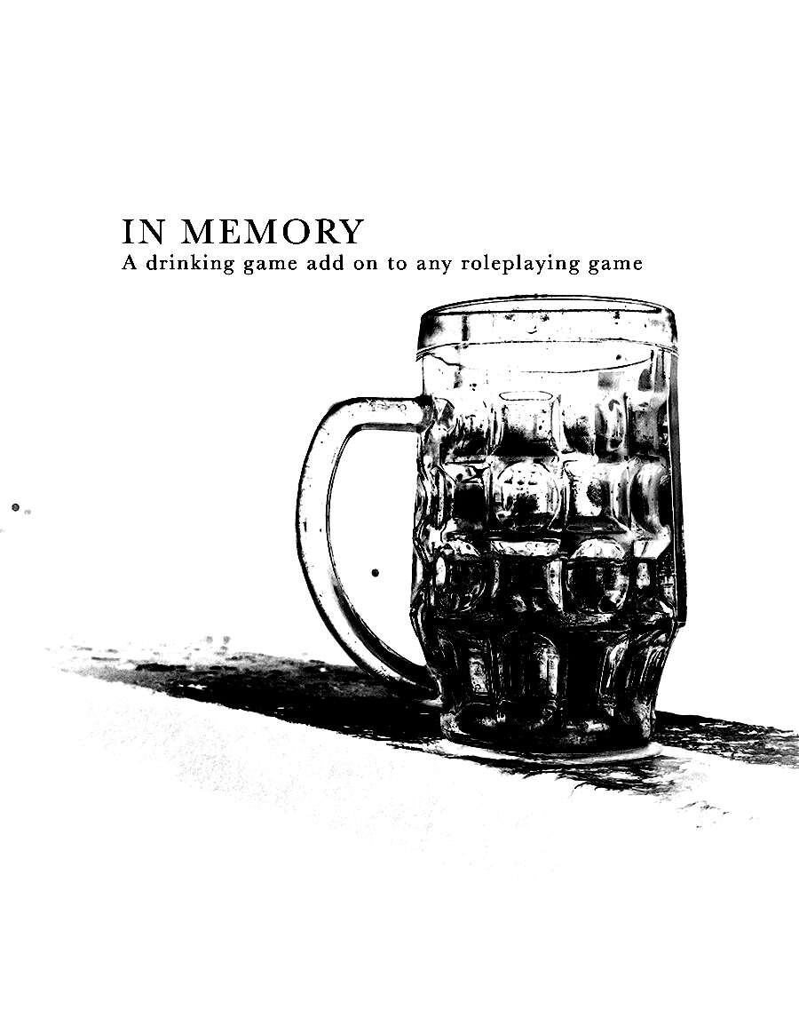 cover of In Memory a drinking game