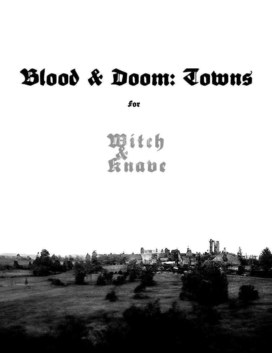 Cover of Blood and Doom: Towns