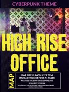 Cyberpunk High Rise Office - Battlemap for RPG and Minis
