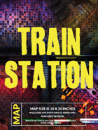 Cyberpunk Train Station - Battlemap