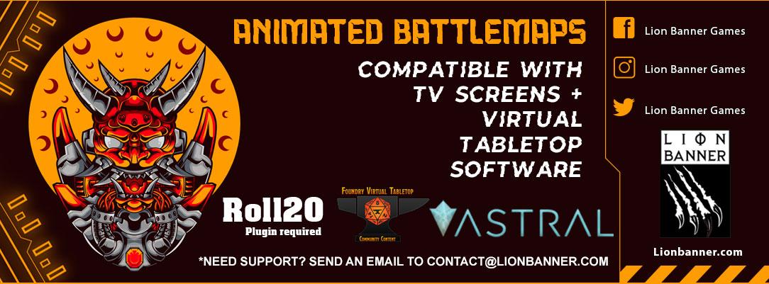 Animated Cyberpunk Seaport - Battlemap