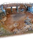 Destroyed Bridge scene