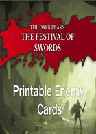 The Dark Peaks: The Festival of Swords Printable Enemy Cards