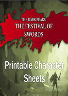 The Dark Peaks: The Festival of Swords Printable Character Cards