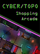 Cyberpunk Shopping Arcade