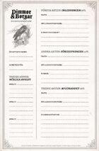 Dimmor & Borgar: Äventyrsformulär