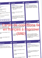 Cartes de condition 5e (SRD) en français