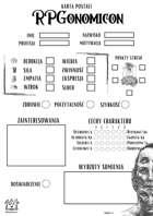 RPGonomicon - Karta Postaci