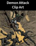 Demon Attack Clip Art