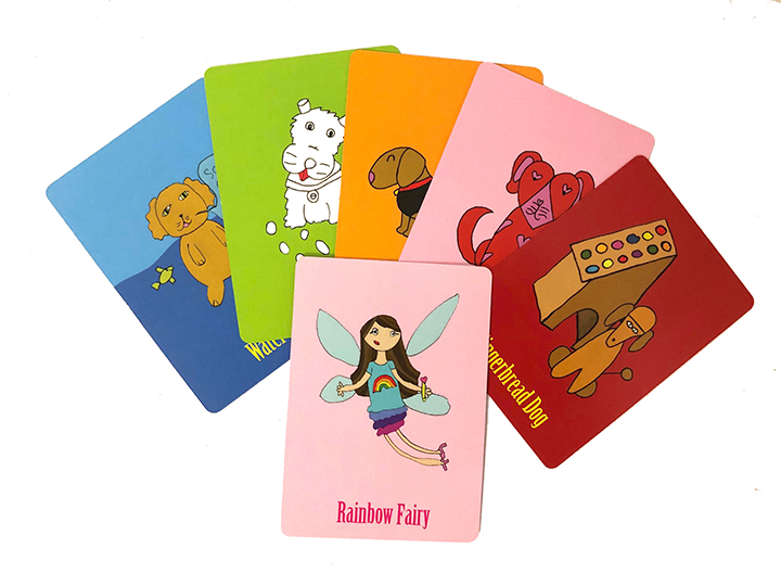 Dog cards and fairy