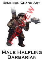 Fantasy Character Stock Art: Male Halfling Barbarian