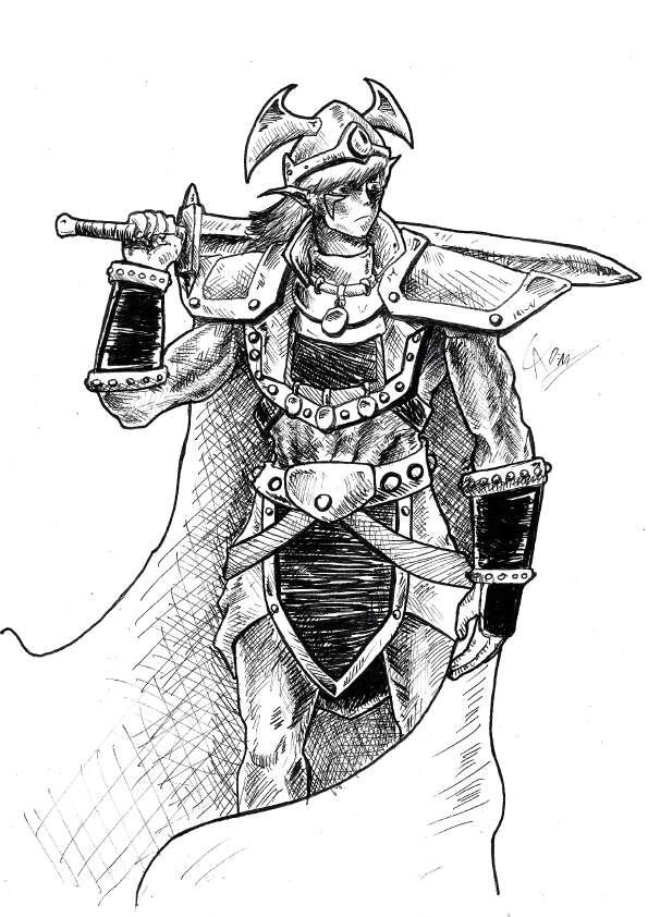 Elf Barbarian Full Page Arte Castilho Drivethrurpg Com