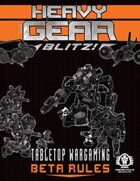Heavy Gear Blitz! Tabletop Wargaming - Beta Rules