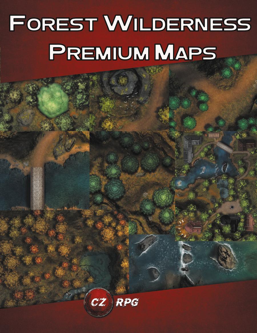 Forest Wilderness Premium Maps