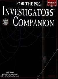 Portada de 1920's investigator companion vol. 1