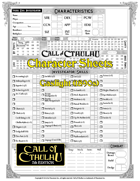 Character Sheets - Gaslight - Call of Cthulhu 7th Edition