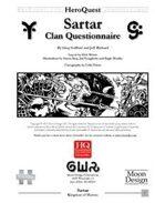 Sartar Clan Questionairre