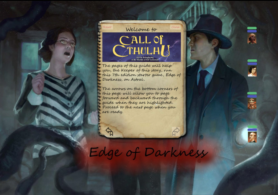 Edge of Darkness Call of Cthulhu Adventure on Astral VTT