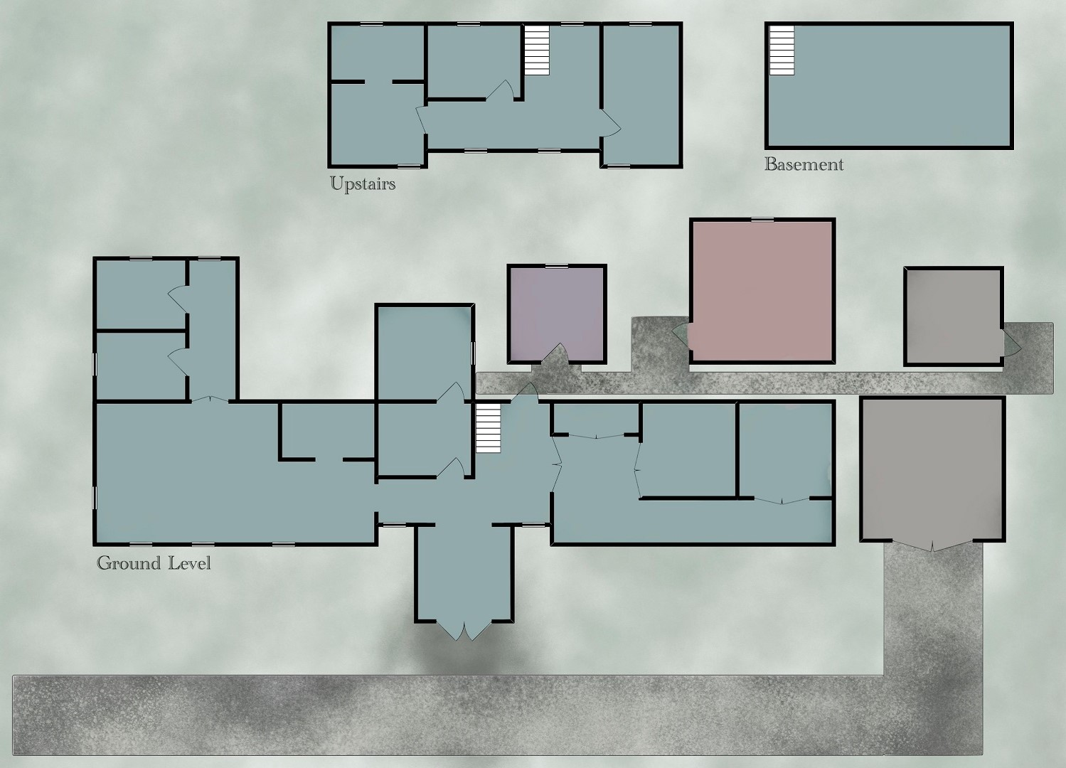 A map of the clinic for players without markers