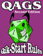 QAGS Second Edition Qik-Start Rules