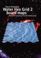 Water Hex Grid 2 boardgame bases 1
