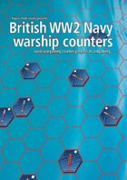 British Navy WW2 warship hex counters