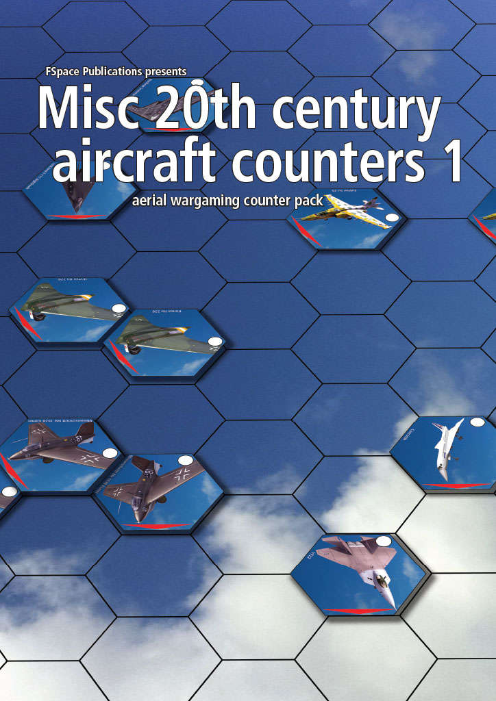 Misc 20th Century Aircraft Counters Pack 1