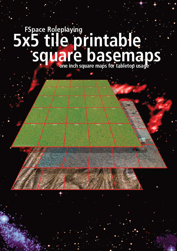 FSpaceRPG X Tile Printable Square Basemaps One Inch FSpace - 5x5 inch tiles