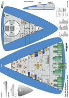 200ton Missile carrier boat ship plans sheet