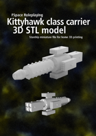 Kittyhawk class carrier 3D STL model