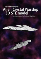 alien crystal warship 3D STL model