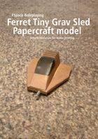 Ferret Tiny Grav Assault Sled Papercraft model