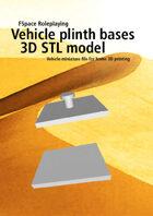 Vehicle plinth bases 3D STL model