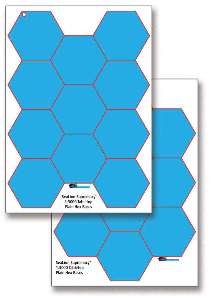 SeaLion Supremacy 1-3000 plain A3 hex bases - FSpace